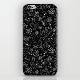 Cephalopods - Black and White iPhone Skin
