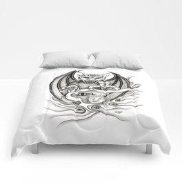 Midnight Dream - Black and White Design Comforters