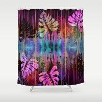 Drippy Jungle {acid} Shower Curtain