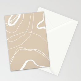 LINEE DI VITA - The lines of life - Modern abstract art hand drawn Stationery Cards