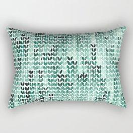 Watercolor Knitted Pattern Rectangular Pillow