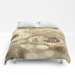 Crumbling Beach Comforters