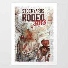 Cyber Rodeo 1 Art Print