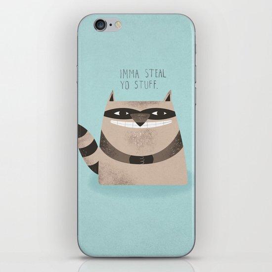 Sneaky Raccoon iPhone & iPod Skin
