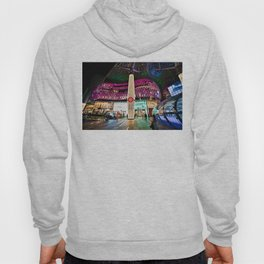 Glimmering Christmas Shopping Fronts Hoody