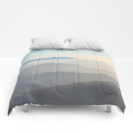Erie Layered Mountains Landscape Comforters