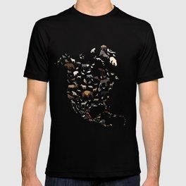 Wild North America map T-shirt