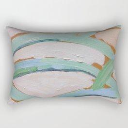 Brush Stokes Leaves Rectangular Pillow