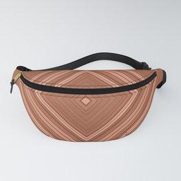 Brown geometric pattern Fanny Pack
