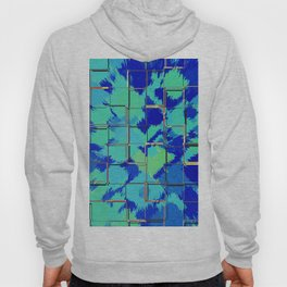 Abstract Squares Blue & Green Hoody
