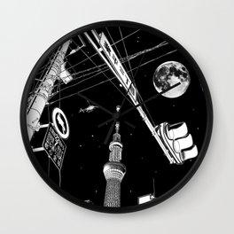Night in Tokyo 2020 Wall Clock