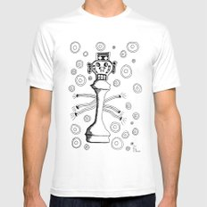 Check Mate MEDIUM Mens Fitted Tee White