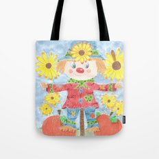 Fall scarecrow Tote Bag