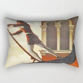 Venice history, gondola Rectangular Pillow