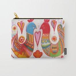 Folk Love Birds Carry-All Pouch
