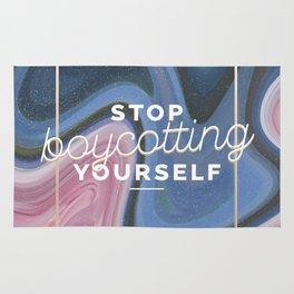 stop boycotting yourself Rug