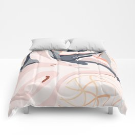 Elegant Zen Marbled Effect Design Comforters