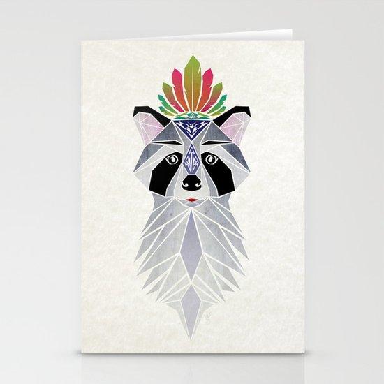 raccoon spirit Stationery Cards