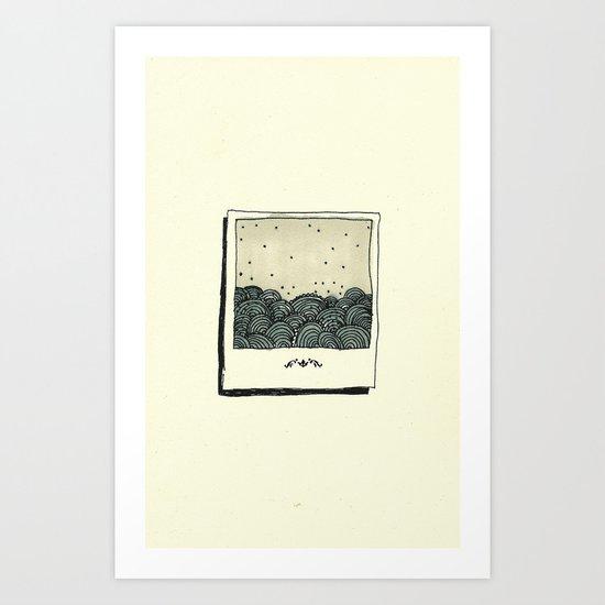 y un mar Art Print