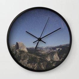 Yosemite at Night Wall Clock