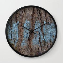 Blå bark Wall Clock