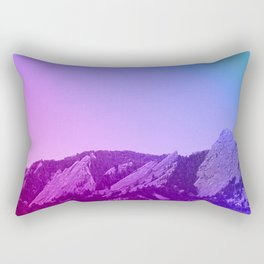 Boulder Colorado Flatirons Decor \\ Chautauqua Park Purple Pink Blue Green Nature Bohemian Style Art Rectangular Pillow