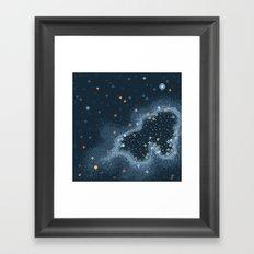 Grey Rift Galaxy (8bit) Framed Art Print