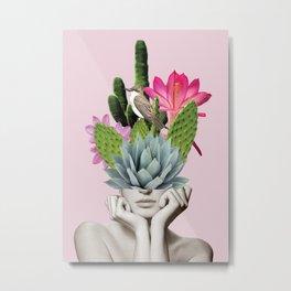 Cactus Lady Metal Print