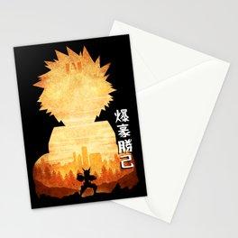 Minimalist Silhouette Bakugo Stationery Cards