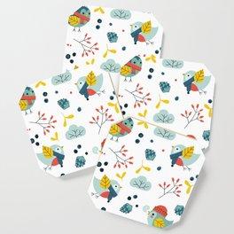 winter birds pattern Coaster