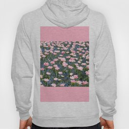 Pink Foxtrot tulips with blue forget-me-nots Hoody