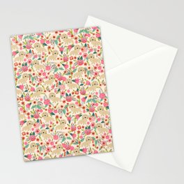Dachshund longhaired doxie floral dog breed pet gift for dachsie lovers must haves Stationery Cards