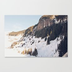 Mountain Snow in the Sun Canvas Print