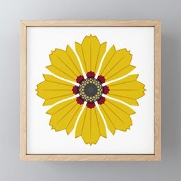 Tickseed Framed Mini Art Print