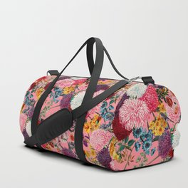 Floral Pink Pattern Duffle Bag