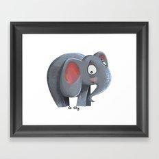 Elly the Shy elephant Framed Art Print