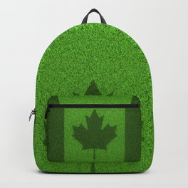 Grass flag Canada / 3D render of Canadian flag grown from grass Backpack