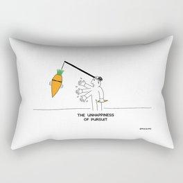 The Unhappiness of Pursuit Rectangular Pillow