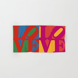 Love Pop Art Hand & Bath Towel