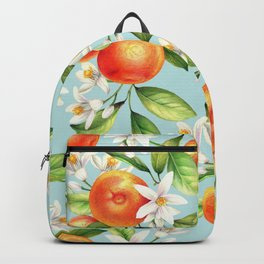 Seamless pattern with orange fruits Backpack
