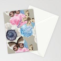 Vintage Flowers & Moths Stationery Cards