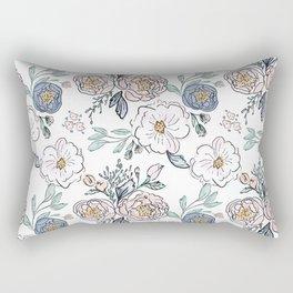 Indy Bloom Design Periwinkle Rose Rectangular Pillow