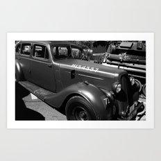 War Memories, black&white Art Print