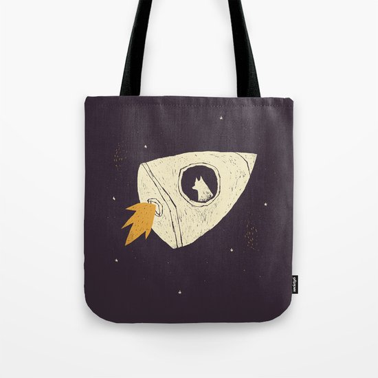 laika(purple) Tote Bag