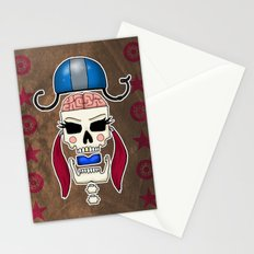 Skater Skull by RonkyTonk Roller Derby Stationery Cards