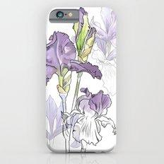 Iris - Flower botanical illustration iPhone 6s Slim Case