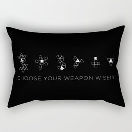 Choose Your Weapon Wisely Rectangular Pillow