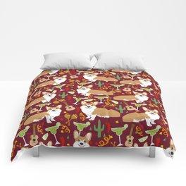 Corgi Margarita Party Comforters