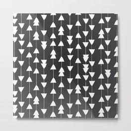 Arrowhead - Black Metal Print
