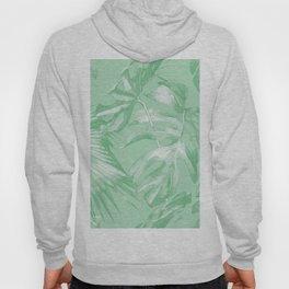 Tropics Mint Green Palm Leaves Hoody